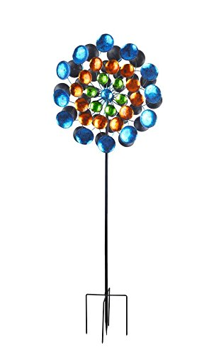 Continental-Art-Center-CAC3401680-Metallic-Painted-Double-Sided-360-Kinetic-Spinner-Garden-Stake-11x28x80H-0