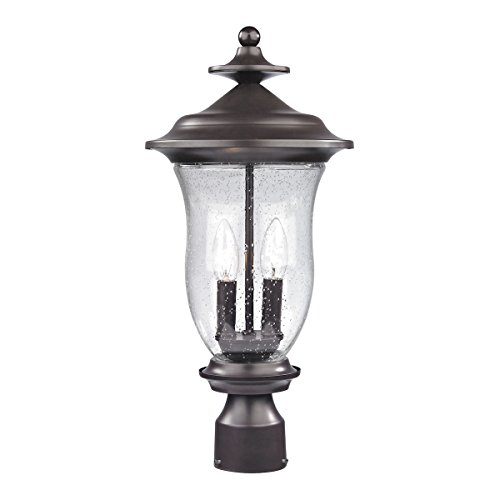 Cornerstone-8002EP75-Trinity-Two-Light-Medium-Post-Lantern-Oil-Rubbed-Bronze-Finish-with-Seeded-Glass-0