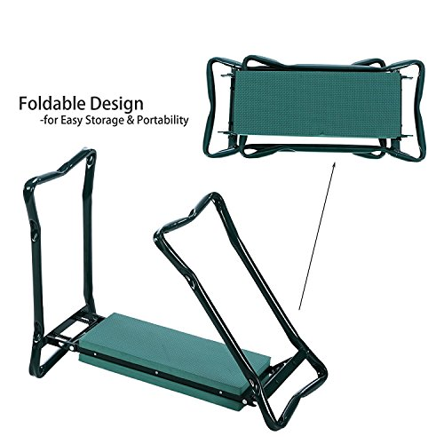 Creine-Folding-Garden-Kneeler-Bench-Seat-Portable-Foldable-Kneeling-Stool-Bench-Chair-with-Tool-Pouch-Soft-Foam-Kneeling-Pad-for-Home-Garden-Patio-Backyard-US-STOCK-0-2