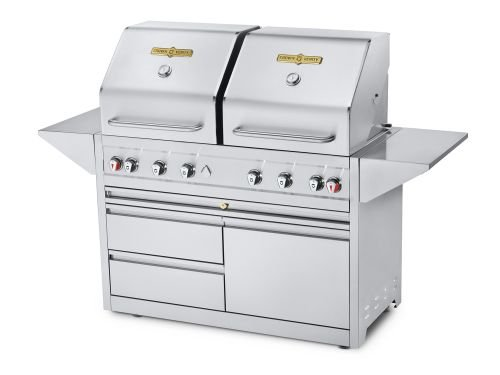 Crown-Verity-Estate-Elite-48-Double-Drawer-Cart-Dual-Lid-Grill-Propane-0