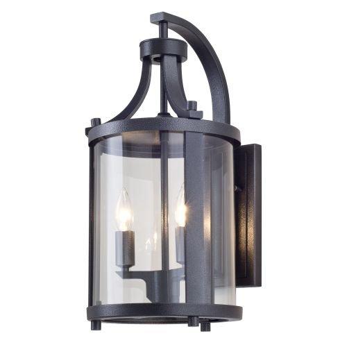 DVI-Lighting-DVP4472-Niagara-Outdoor-2-Light-14-34-Tall-Wall-Sconce-Hammered-BlackClear-0