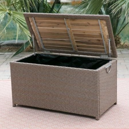 Deck-Box-Patio-Storage-WAcacia-Top-Resin-Wicker-Light-Brown-0-0