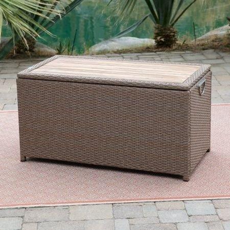 Deck-Box-Patio-Storage-WAcacia-Top-Resin-Wicker-Light-Brown-0