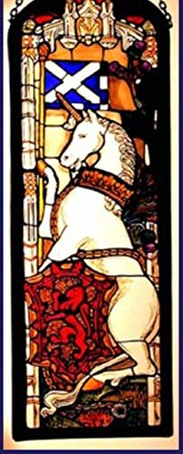 Decorative-Hand-Painted-Stained-Glass-Window-Rectangular-Panel-in-an-Edinburgh-Unicorn-Design-0