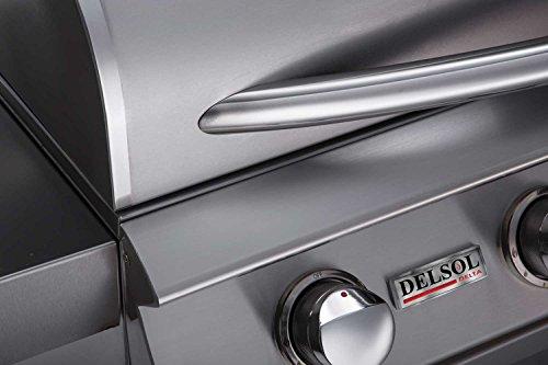 Delsol-Delta-5-Burner-Freestanding-Gas-Grill-with-Sear-Zone-Kit-Rotisserie-Kit-and-Side-Burner-DSBQ40R-N-DSGB40-DSSZ-KIT-DSRS32-KIT-DSSB1F-N-40-Inch-Natural-Gas-0-2