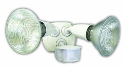 Designers-Edge-L6003WH-L-6003Wh-Twin-Head-Motion-Activated-Flood-Light-120-V-240-W-Par-Incandescent-120-W-Watt-White-0