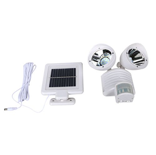 Dual-Light-Security-Solar-Motion-Sensor-22-LED-Lumens-Outdoor-Post-Garden-Floodlight-White-0-1