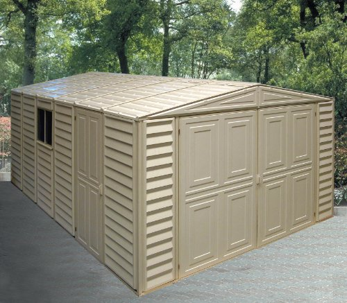 Duramax-01014-Vinyl-Garage-Shed-with-Foundation-and-Window-10-by-155-Inch-0-1