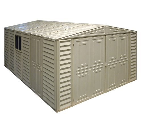 Duramax-01014-Vinyl-Garage-Shed-with-Foundation-and-Window-10-by-155-Inch-0