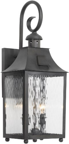 Elk-5751-C-9-by-23-Inch-Monterey-Water-Glass-2-Light-Outdoor-Wall-Lantern-Charcoal-Finish-0