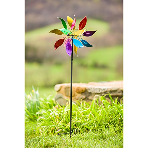 Evergreen-Floral-Wind-Outdoor-Safe-Kinetic-Wind-Spinning-Topper-Pole-Sold-Separately-0-0