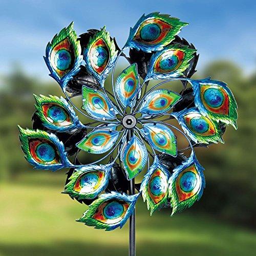 Exhart-Giant-Peacock-Spinner-Garden-Stake-0