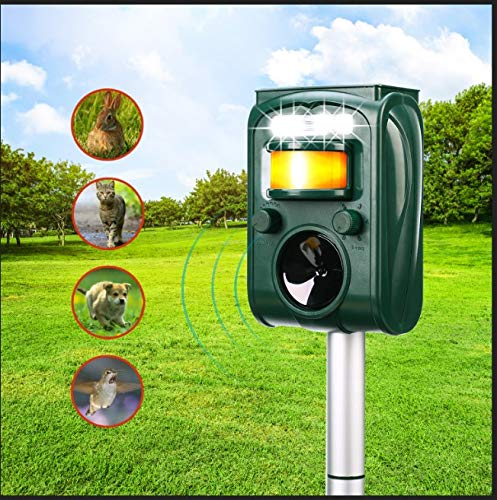 FAYINWBO-Solar-Ultrasonic-Animal-Repellenr-Outdoor-Waterproof-Pest-Repeller-Motion-Activated-LED-Lights-Repel-Animal-Pests-Cats-and-Dogs-Squirrels-Raccoons-Foxes-Mouse-Skunks-Rabbit-etc-0-1