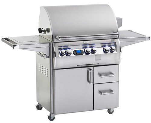 Fire-Magic-E660s-4L1P-62-Echelon-Diamond-E660s-Propane-Gas-Grill-Single-Side-Burner-One-Infrared-Burner-On-Cart-0