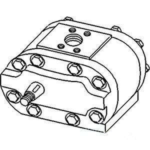 Ford-New-Holland-Pump-Mounts-in-Transmission-Housing-Part-No-A-E2NN600BA-0