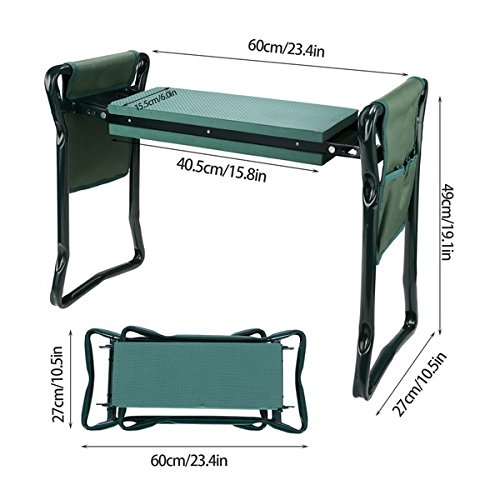 Garden-Foldable-Kneeler-Bench-Seat-with-2-Tool-Pouches-and-EVA-Kneeling-Pad-Handles-0-2