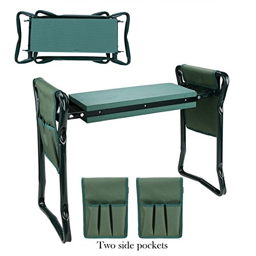 Garden-Foldable-Kneeler-Bench-Seat-with-2-Tool-Pouches-and-EVA-Kneeling-Pad-Handles-0