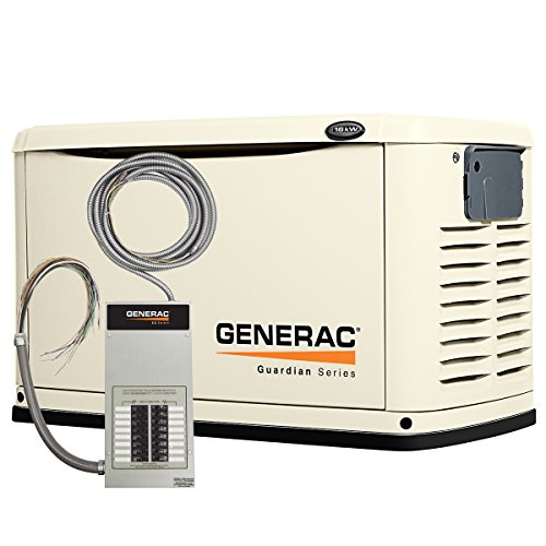 Generac-6461-Guardian-Series-16kW-Air-Cooled-Standby-Generator-Natural-GasLiquid-Propane-Powered-Steel-Enclosed-with-16-Circuit-100-Amp-Prewired-EZ-Automatic-Transfer-Switch-0