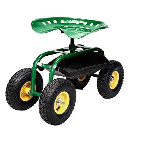 Green-Rolling-Garden-Swivel-Seat-Planting-Adjustable-Height-0