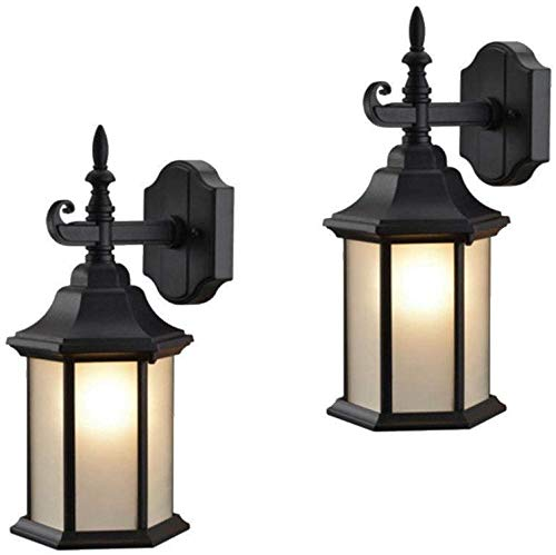 Hardware-House-19-2132-19-2057-Patio-Porch-Wall-Mount-Exterior-Lighting-Lantern-Fixtures-with-Frosted-Glass-Twin-Packs-0