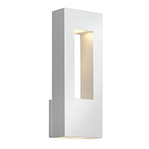 Hinkley-1648SW-Atlantis-Cast-Aluminum-Outdoor-Wall-Sconce-Lighting-40-Watts-Halogen-Satin-White-0