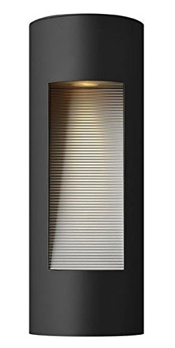 Hinkley-1660SK-Luna-Cast-Aluminum-Outdoor-Wall-Sconce-Lighting-40-Total-Watts-Halogen-Black-0