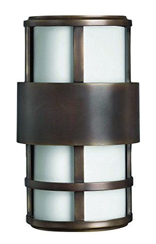 Hinkley-1908MT-LED-Contemporary-Modern-Two-Light-Wall-Mount-from-Saturn-collection-in-BronzeDarkfinish-0