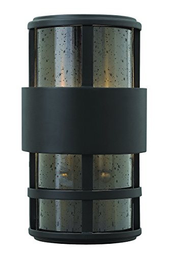 Hinkley-1908SK-Contemporary-Modern-Two-Light-Wall-Mount-from-Saturn-collection-in-Blackfinish-0