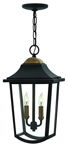 Hinkley-1972BK-Traditional-Two-Light-Hanging-Lantern-from-Burton-collection-in-Blackfinish-0