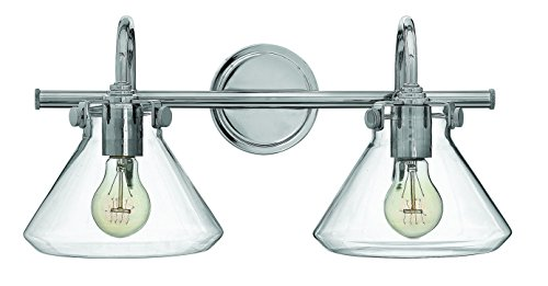 Hinkley-Lighting-50026CM-Congress-9-14H-2-Light-Bath-Lighting-with-Clear-Glass-0