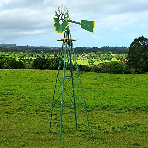 HomGarden-8-Windmill-Yard-Ornametal-Steel-Garden-Wind-Mill-Weather-Vane-Weather-Resistant-Decoration-for-Home-Garden-Backyard-0-1