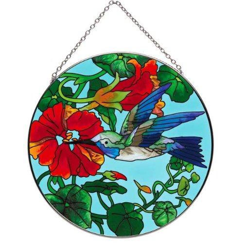 Joan-Baker-Nasturtium-and-Hummingbird-Suncatcher-0
