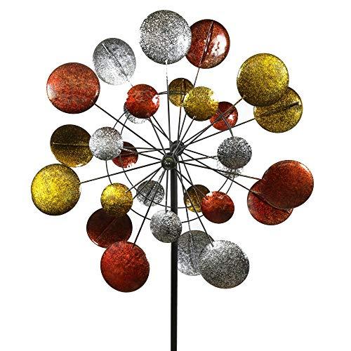 Jumbo-Modern-Art-Kinetic-Quadruple-Wind-Sculpture-Spinner-0