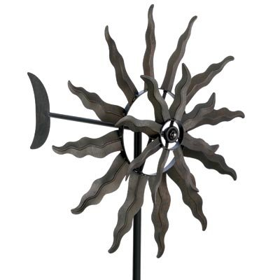Kinetic-wind-Sculpture-Modern-Art-SUN-Dual-Spinner-Metal-Garden-Outdoor-Pinwheel-0