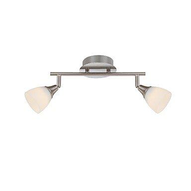 LED-Mini-Wall-Light-2-Lights-Modern-Nickel-Metal-0