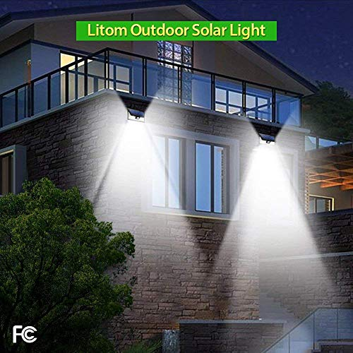 LITOM-Enhanced-Version-Solar-Lights-Outdoor-24-LED-Super-Bright-Plating-Solar-Lights-with-Motion-Sensor-Solar-Powered-Security-Wall-Lights-for-Front-Door-Yard-Garage-Deck-Porch2-Pack-0-0