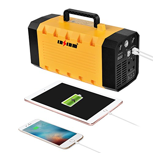 LNSLNM-500W-Portable-Generator-Power-Inverter-288Wh90000mAh-Camping-CPAP-Battery-Backup-Home-Power-Source-Charged-by-Solar-PanelWall-OutletCar-with-Dual-110V-AC-Outlet-4-DC-12V-Ports-USB-Ports-0-0