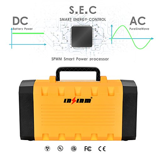 LNSLNM-500W-Portable-Generator-Power-Inverter-288Wh90000mAh-Camping-CPAP-Battery-Backup-Home-Power-Source-Charged-by-Solar-PanelWall-OutletCar-with-Dual-110V-AC-Outlet-4-DC-12V-Ports-USB-Ports-0-1