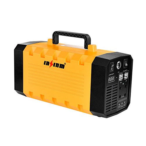 LNSLNM-500W-Portable-Generator-Power-Inverter-288Wh90000mAh-Camping-CPAP-Battery-Backup-Home-Power-Source-Charged-by-Solar-PanelWall-OutletCar-with-Dual-110V-AC-Outlet-4-DC-12V-Ports-USB-Ports-0