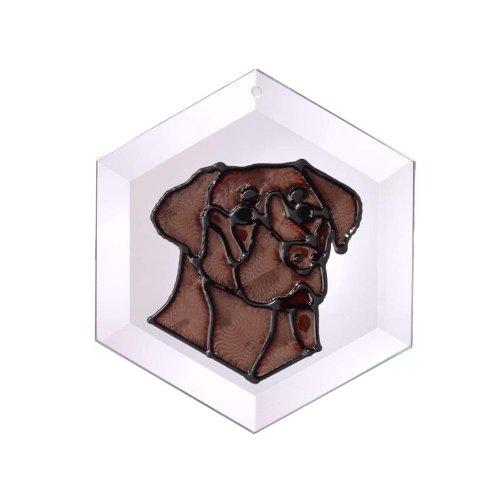 Lab-Ii-Chocolate-Painted-Glass-Suncatcher-Ew-209C-0