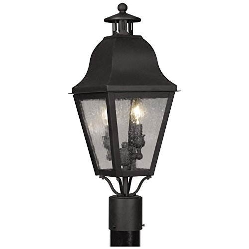 Livex-Amwell-2552-04-Outdoor-Post-Lantern-23H-in-Black-0