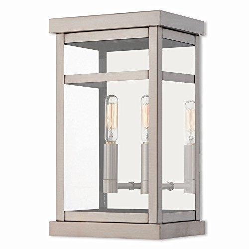 Livex-Lighting-20702-91-Hopewell-2-Light-Outdoor-Wall-Lantern-Brushed-Nickel-0