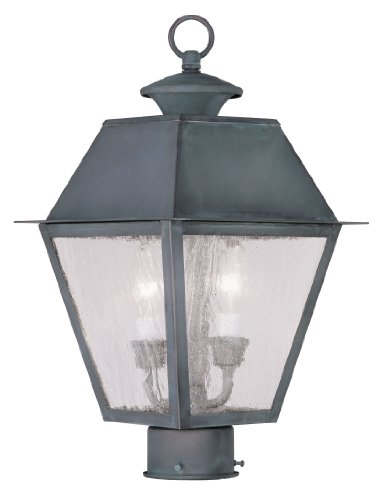 Livex-Lighting-2166-61-Mansfield-2-Light-Outdoor-Post-Head-Charcoal-0
