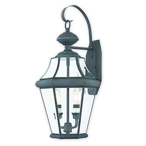 Livex-Lighting-2261-61-Georgetown-2-Outdoor-Wall-Lantern-Charcoal-0