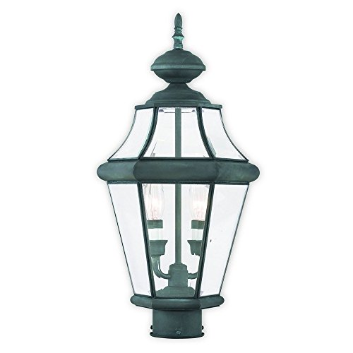 Livex-Lighting-2264-61-Georgetown-2-Light-Outdoor-Post-Lantern-2-Charcoal-0