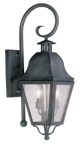 Livex-Lighting-2551-61-Amwell-2-Light-Outdoor-Wall-Lantern-Charcoal-0