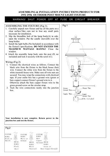 Livex-Lighting-2552-61-Amwell-2-Light-Outdoor-Post-Head-Charcoal-0-0
