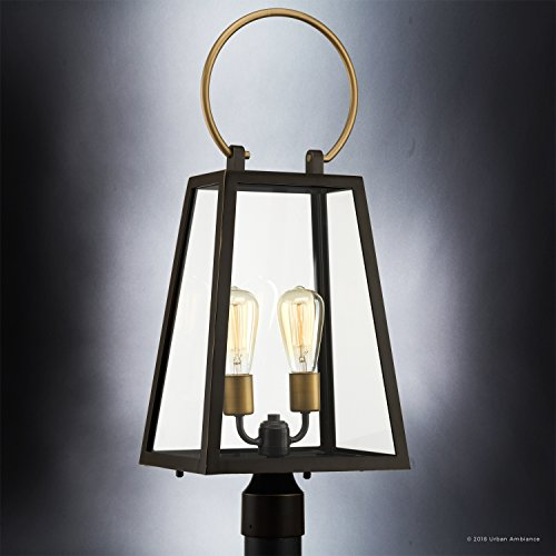 Luxury-Vintage-Outdoor-PostPier-Light-Large-Size-27H-x-1125W-with-Farmhouse-Style-Elements-Olde-Bronze-Finish-UHP1004-from-The-Vicenza-Collection-by-Urban-Ambiance-0-2