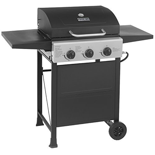 MASTER-COOK-Classic-Liquid-Propane-Gas-Grill-3-Bunner-with-Folding-Table-Black-0