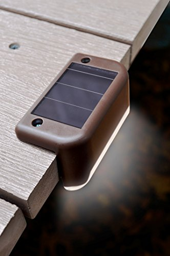 MAXSA-Solar-Step-Deck-Railing-Lights-4-Pack-Dusk-to-Dawn-Outdoor-Accent-Lighting-Brown-47332-0-1